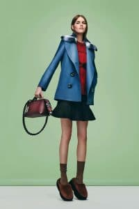 Fendi Burgundy Floral Embellished By The Way Bag - Pre-Fall 2016