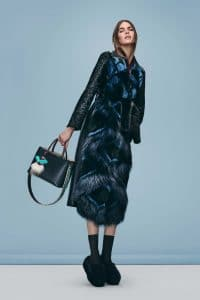 Fendi Dark Green 2jours Bag with Python Strap You - Pre-Fall 2016