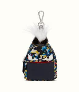 Fendi Multicolor Bag Bugs Granite Print Backpack Charm