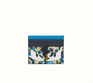 Fendi Multicolor Bag Bugs Granite Print Business Card Holder