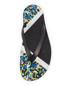 Fendi Multicolor Bag Bugs Granite Print Flip-Flop Sandal
