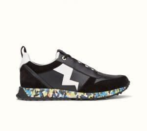 Fendi Multicolor Bag Bugs Granite Print Lace-Up Sneaker