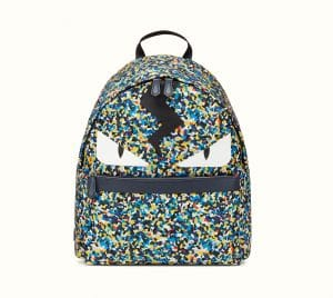 Fendi Multicolor Bag Bugs Granite Print Nylon Backpack Bag