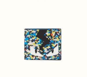 Fendi Multicolor Bag Bugs Granite Print Wallet