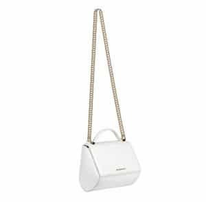 Givenchy White Patent Pandora Box Chain Small Bag