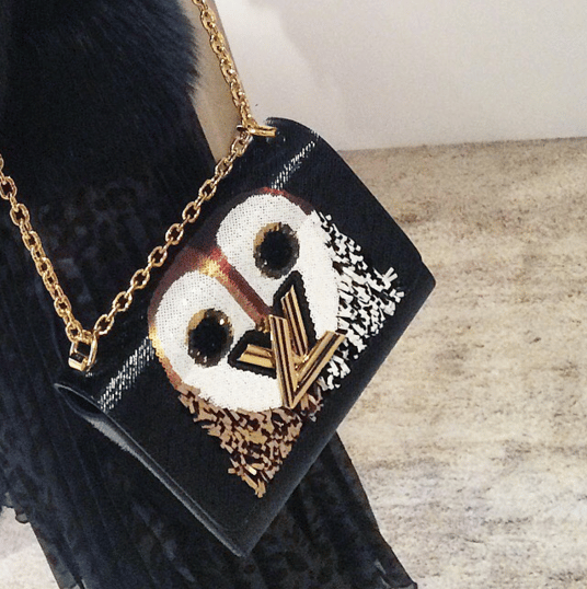 Louis Vuitton Black Owl Print Twist Bag - Spring 2016