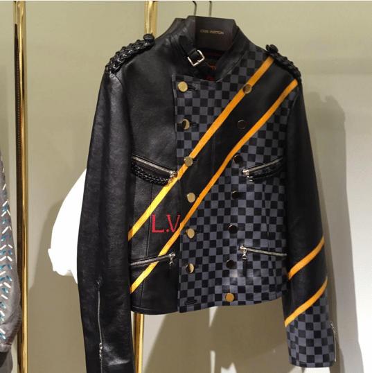 Louis Vuitton Black/Damier Graphite Leather Jacket - Spring 2016