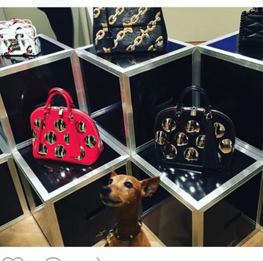 Louis Vuitton Black/Red Embellished Alma Bags - Spring 2016