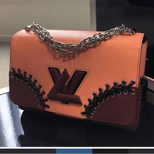 Louis Vuitton Pink:Burgundy:Black Twist Bag - Spring 2016