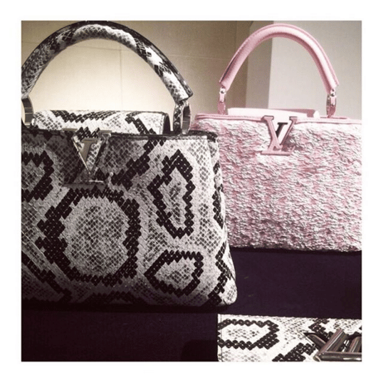 Louis Vuitton Python and Tweed Capucines Tote Bag - Spring 2016