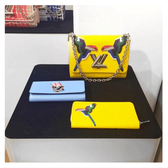 Louis Vuitton Yellow Epi Bird Print Twist Bag and Wallets - Spring 2016
