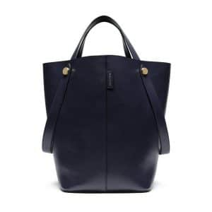 Mulberry Midnight Flat Calf Kite Tote Bag