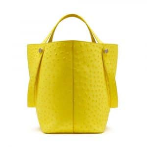 Mulberry Neon Yellow Ostrich Kite Tote Bag