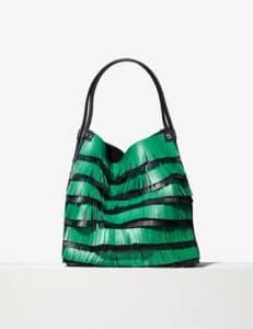 Proenza Schouler Aloe/Black Medium Fringe Tote Bag