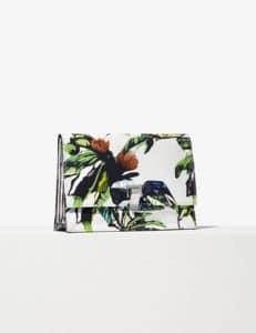 Proenza Schouler Ecru Floral Print Small Lunch Bag