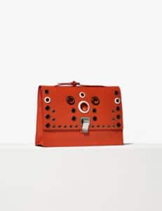 Proenza Schouler Fire Red Grommeted Small Lunch Bag