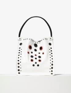 Proenza Schouler Optic White Grommeted Medium Tote Bag
