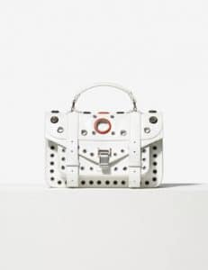 Proenza Schouler Optic White Grommeted PS1 Tiny Bag