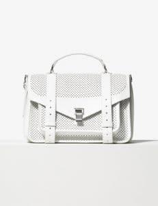 Proenza Schouler Optic White Perforated PS1 Medium Bag