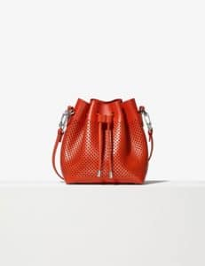 Proenza Schouler Red Perforated Medium Bucket Bag