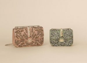 Valentino Garden Couture Beaded Lock Flap Bags