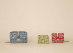 Valentino Garden Couture Embellished Lock Flap Bags