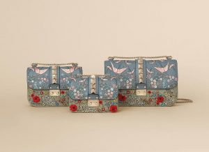 Valentino Multicolor Garde Couture Embellished Lock Flap Bags