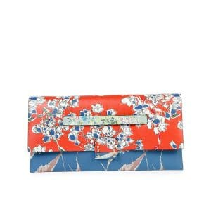Valentino Multicolor Garden Couture Print Mime Clutch Bag