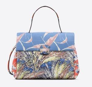 Valentino Multicolor Garden Couture Print Mime Top Handle Bag