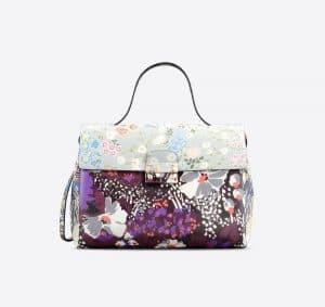 Valentino Multicolor Garden Couture Print Mime Top Handle Small Bag