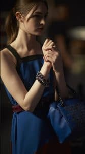 Bottega Veneta Blue Intrecciato Ayers Top Handle Bag 1