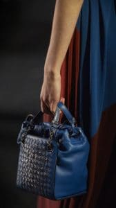 Bottega Veneta Blue Intrecciato Ayers Top Handle Bag 2