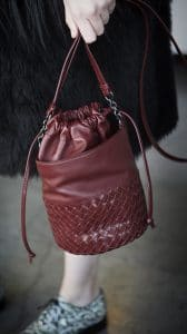 Bottega Veneta Red Intrecciato Bucket Bag