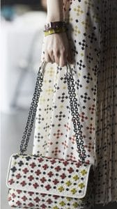 Bottega Veneta White Embellished Olimpia Bag