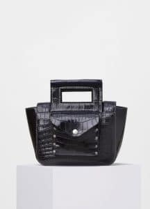 Celine Black Crocodile Small Square Bag