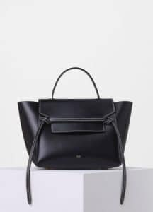 Celine Black with White Double Stitching Mini Belt Bag