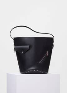 Celine Black/Sunflower Bucket Biker Shoulder Bag