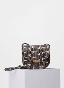 Celine Black/White Printed Watersnake Small Trotteur Shoulder Bag