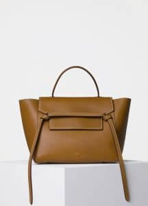 Celine Blonde with White Double Stitching Mini Belt Bag