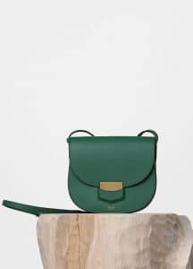 Celine Light Forest Small Trotteur Shoulder Bag