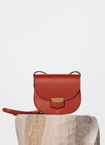 Celine Ruby Supersoft Calfskin Small Trotteur Shoulder Bag