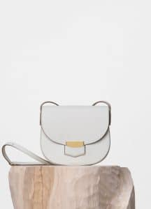 Celine White Small Trotteur Shoulder Bag