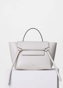 Celine White Supersoft Calfskin Mini Belt Bag