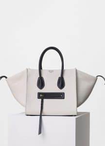 Celine White Washed Canvas Medium Luggage Phantom Bag