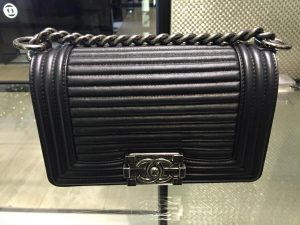 Chanel Black Horizontal Quilted Small Boy Flap Bag