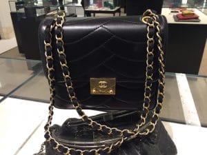 Chanel Black Pagoda Flap Square Mini Bag