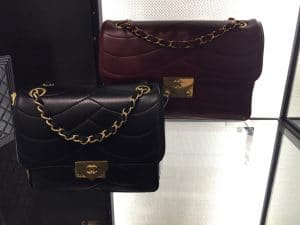 Chanel Black Square Mini and Burgundy Small Pagoda Flap Bags