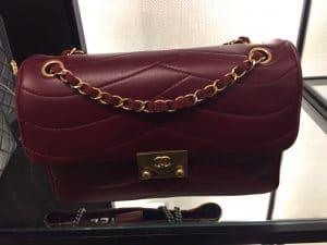 Chanel Burgudny Pagoda Flap Small Bag