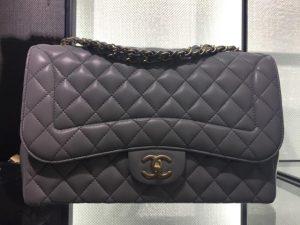 Chanel Gray Mademoiselle Chic Jumbo Flap Bag