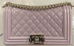 Chanel Light Purple Iridescent Calfskin Boy Bag